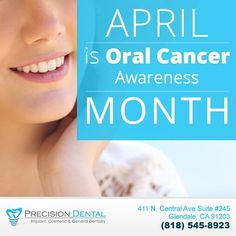 Contact our office today to schedule your dental exam and #oralcancer screening! (818) 545-8923 #dentalimplants #implantdentist #implantdentistry #Invisalign #braces #retainers #veneers #dentalveneers #porcelainveneers #tmj #cosmeticdentist #dentalbonding #crowns #dentalcrowns #dentalcaps #toothwhitening #teethwhitening #glendaledentist #fillings #whitefillings #dentalbridge #dentures #laserdentistry #teethcleaning #deepcleaning #smilemakeover #california #glendaleca #glendalecalifornia…