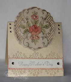 Love cards made with parchment paper. The gold embossing is gorgeous