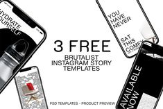 Free Brutalism Story Templates – Free Design Resources