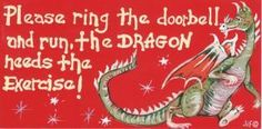 Please Ring the Doorbell The Dragon Needs The Exercise! Witchypoo smiley Sign -The Old Ways Pagan Shop Dragon 2, Fantasy Dragon, Magical Creatures, Fantasy Creatures, Fantasy World, Fantasy Art, Fantasy Life, Dragon Quotes, Dragon Memes