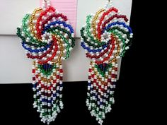 Seed Bead Jewelry, Seed Bead Earrings, Women's Earrings, Beaded Jewelry, Beaded Earrings Patterns, African Necklace, Earring Tutorial, Pony Beads, Beading Tutorials