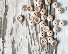 Wood Buttons.  So cute.