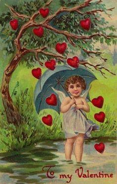 Vintage Valentine, hoe leuk kan het zijn om zo,n valentijntje te krijgen,.....lb