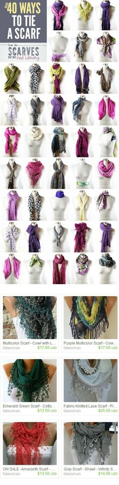 Scarf on ETSY (13.50 USD)...