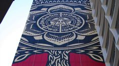 The legend, the icon, the inspiration, and the artistic voice of a generation, Shepard Fairey explains his workflow and process of applying his art to a canvas of ridiculous proportions, his newest mural has just gone up at the line hotel in Los Angeles, on the corner of Wilshire & Normandie, a beautiful addition to the