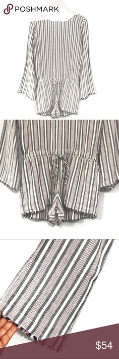 f8a63b61 Anthropologie Cloth & Stone Striped Romper NWT Women's Cloth &  Stone Romper Size XS