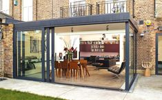single storey extension with sliding doors