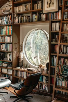 Home Library Design, Dream Library, Future Library, New York Loft, Home Libraries, My Dream Home, Interior And Exterior, Home And Family, Sweet Home
