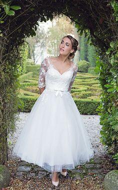 Tea Length Wedding Dresses-50's Short Wedding Dress - FairyGothMother