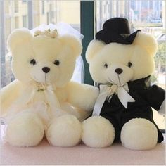 a pair of Wedding bear toys lovers wedding teddy bear dolls wedding gift about Cute Teddy Bear Pics, Teddy Bear Images, Large Teddy Bear, Teddy Bear Cartoon, Teddy Bear Pictures, Teddy Beer, Teddy Day, Bear Wallpaper, Bear Doll