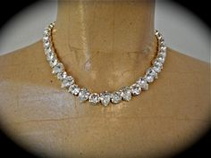 Classic Crystal Teardrop Necklace - swarovski, silver, gold, gunmetal, matching bracelet & earrings
