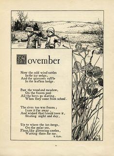 November Poem by K. Pyle - Old Design Shop Blog