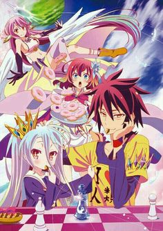 Anime: No Game No Life------Género: Aventura, Comédia, Ecchi, Fantasia, Sobrenatural