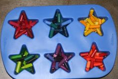 recycled crayons...cool gift idea for nieces and nephews : )