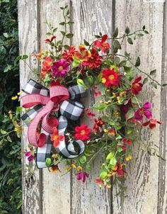 Summer Wreath Wildflower WreathDouble Door WreathFront WreathSpring