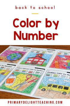 Back to School color by number 2nd grade math worksheets are a fun way for kids to practice addition, subtraction, place value and telling time. Use these printable pages for morning work for students or for early finishers in the classroom or homeschool setting. #BackToSchool  #Addition #Subtraction  #PrimaryDelight Math Place Value, Place Values, 2nd Grade Teacher, First Grade Math, Teaching Subtraction, 2nd Grade Math Worksheets, Math Pages, Addition Facts, Early Finishers