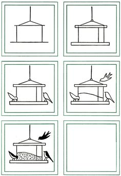 How to Draw Birds & Bird Feeder Kids Drawing Lesson. Drawing Lessons For Kids, Painting Lessons, Art Lessons, Hobbies To Take Up, Hobbies That Make Money, Bird Drawings, Easy Drawings, Drawing Birds, Hobby Lobby Crafts