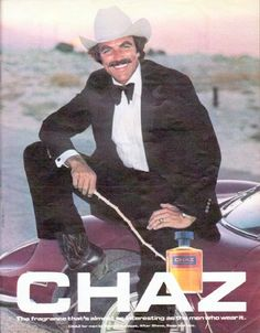 """1979 CHAZ COLOGNE vintage magazine advertisement """"almost as interesting"""" ~ The fragrance that's almost as interesting as the men who wear it ... CHAZ for men by Revlon. (featuring Tom Selleck) ~"""