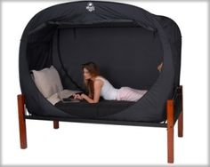 Privacy Pop Bed Tent Twin XL-Privacy Pop Bed Tent Twin XL Sharing a room with anyone can be a real drag, whether you like them or not! The Privacy Pop is a unique bed tent that is designed to give you maximum privacy even when you have to share a roo Bed Tent Twin, Just In Case, Just For You, Dorm Rooms, Looks Cool, My New Room, Twin Xl, My Dream Home, Home Goods