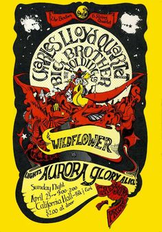 Charles Lloyd Quartet, Big Brother & the Holding Company, Wildflower - California Hall - San Francisco, CA - April 23, 1967 - by Michael Wood & Pyxis Studios