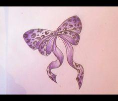 Cute bow tattoo idea