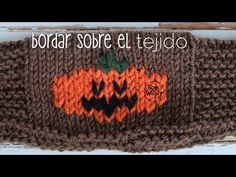 Bordar sobre el tejido en dos agujas: falso jacquard -Halloween - YouTube Manualidades Halloween, Easy Halloween Crafts, Funny Halloween Costumes, Crafts To Make, Halloween Decorations, Halloween Party, Some Fun, Decor Crafts, Kids Playing