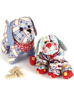 Stitch 2 adorable puppies to hug and love.   This stuffed puppy and yo-yo puppy pattern is great for making a last-minute gift for a new arrival, for a birthday or just because you love puppies! Instructions are included for 2 dogs: 1 stuffed and 1 m...