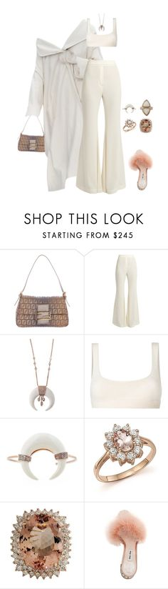 """""""Untitled #4433"""" by kimberlythestylist ❤ liked on Polyvore featuring Fendi, E L L E R Y, Yeezy by Kanye West, Bloomingdale's and Miu Miu"""