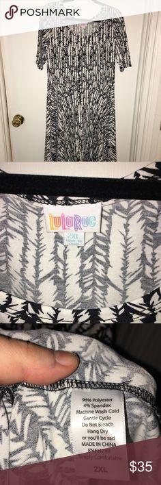 2XL Nicole - NWOT 2XL LuLaRoe Nicole dress NEW w/out tags - never been worn  Super cute black & white pattern LuLaRoe Dresses