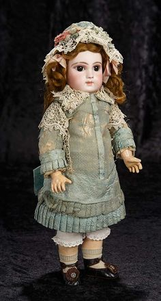 """Interlude"" - Marquis Catalogued Auction - March 11, 2017: 72 Beautiful Early French Bisque Premiere Bebe by Jumeau with Original Costume"