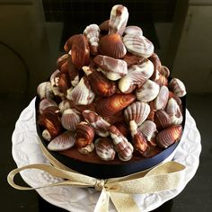 Guylian chocolate cake shared by Nostalgia on We Heart It Chocolate Cheese, Chocolate Heaven, Belgian Chocolate, Gorgeous Cakes, Amazing Cakes, Seashell Cake, Sea Cakes, Vegetarian Cookbook, Recipes
