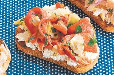 Brushetta with Ricotta, Capsicum, and Artichoke