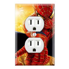 Spiderman Decorative Duplex Receptacle Outlet Wall Plate Cover SH05B