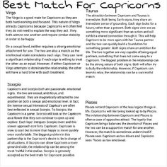 Capricorn love matches quote astrology