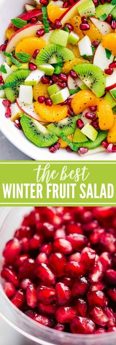 Easy Dinners:  The ultimate BEST EVER Winter Fruit Salad! A super easy, quick, and healthy salad!