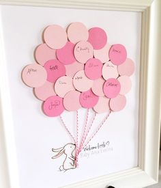 Download a FREE bunny baby shower guest book printable which makes for a cute addition to a baby shower decor and sweet gift for the mama-to-be.
