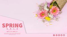 Spring sale banner template PSD file   Free Download Conference Poster Template, Event Poster Template, Banner Template, Card Templates, Vintage Grunge, Sale Banner, Web Banner, Elegant Business Cards, Business Card Design