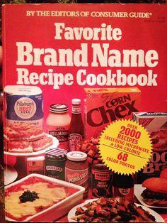 Favorite Brand Name Recipe Cookbook by Entropytheshop on Etsy, $18.00