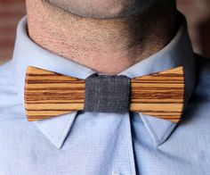 Look stylish without dealing with the hassle of using complicated tying techniques with these wooden bow ties. These hand crafted wooden bow ties come in a variety of beautifully finished wood styles, and are the perfect way to stand out while still looking classy.