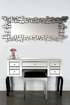Agnes Mirrored Vanity Table & Mirror by Statements By J