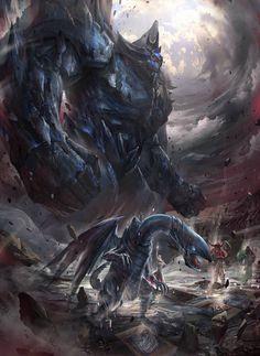 Obelisk the Tormentor from Yugioh by Kazuki Takahashi Yugioh Monsters, Anime Monsters, Kon Bleach, Obelisk The Tormentor, Dark Side Of Dimensions, Pokemon, White Dragon, Sci Fi Art, Manga