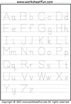 Letter tracing a z free printable worksheets worksheetfun letter tracing letter tracing worksheetsfree printable worksheetspreschool spiritdancerdesigns Images