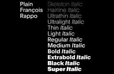 Font News [New Font Release] Plain is the achievement of years of research by François...