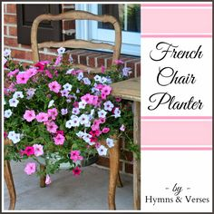 French Chair Planter | Hymns and Verses
