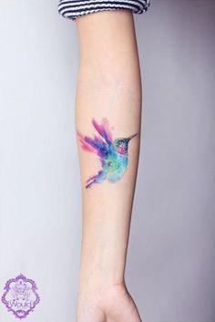 миниатюрные акварельные цветные татуировки