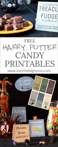 Harry Potter Candy Printables Free Harry Potter Candy Printables - perfect for any Harry Potter Party or Halloween Party! Free Harry Potter Candy Printables - perfect for any Harry Potter Party or Halloween Party! Harry Potter Motto Party, Harry Potter Treats, Harry Potter Candy, Décoration Harry Potter, Harry Potter Halloween Party, Harry Potter Cosplay, Harry Potter Christmas, Harry Potter Birthday, Harry Potter Party Games