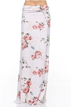 Jennifer Floral Print Maxi Skirt #DillynnMiles #Maxi #Casual