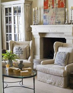 Old Living Room Interior Design Ideas With Fireplace Fabric Sofa : Home Interiors My Living Room, Living Spaces, Ralph Lauren Home Living Room, Hearth And Home, Luxury Interior Design, French Country Decorating, Luxury Homes, Sweet Home, Cool Ideas
