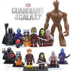 2016 Marvel The Avengers Minifigures Fantastic 4 Guardians of the Galaxy X-Men Captain America 3 Civil War blocks Figures