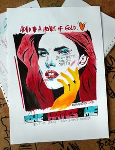 """Quick drawing. """"ADHD & A HEART OF GOLD"""""""